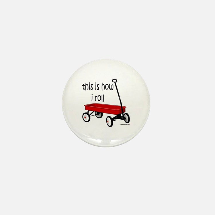 LITTLE RED WAGON Mini Button