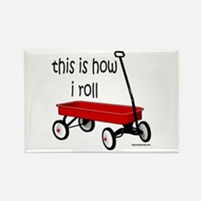 LITTLE RED WAGON Rectangle Magnet