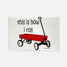 LITTLE RED WAGON Rectangle Magnet (100 pack)