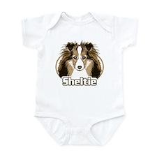 Sheltie Face Infant Bodysuit