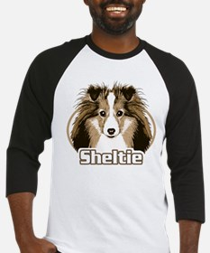 Sheltie Face Baseball Jersey