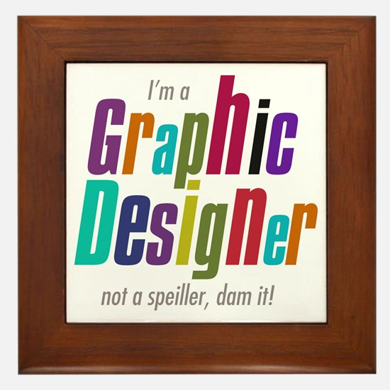 Graphic speller Framed Tile