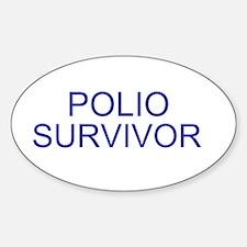 Polio Survivor Oval Decal