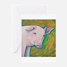 Pink Pig Greeting Cards (Pk of 20)