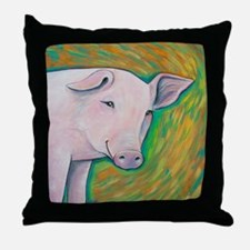 Pink Pig Throw Pillow