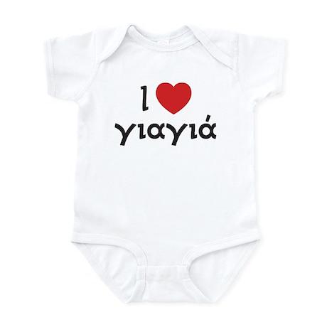 I Love Heart Yiayia Infant Bodysuit