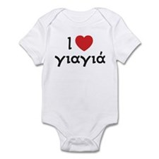 I Love Heart Yiayia Infant Bodysuit