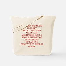 physics joke Tote Bag
