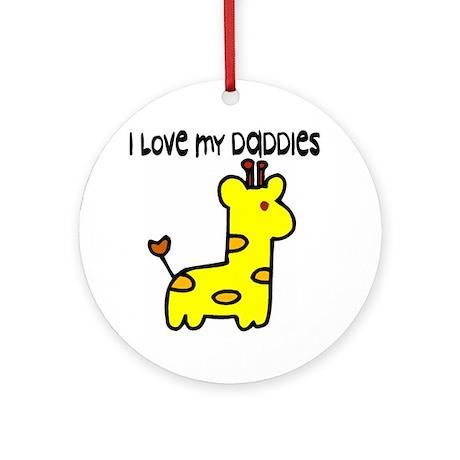 #5 I Love My Daddies Ornament (Round)