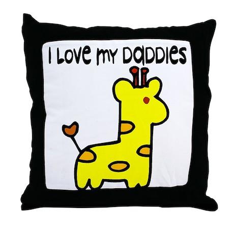 #5 I Love My Daddies Throw Pillow