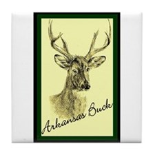ARKANSAS BUCK Tile Coaster