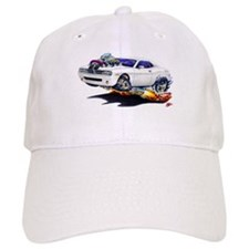 Challenger White Car Baseball Cap