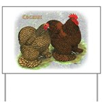 Cochins Golden Laced Yard Sign