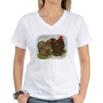 Cochins Golden Laced Women's V-Neck T-Shirt