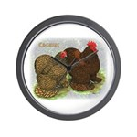 Cochins Golden Laced Wall Clock