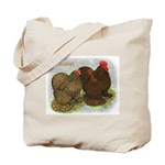 Cochins Golden Laced Tote Bag