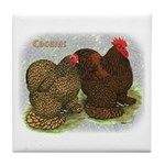 Cochins Golden Laced Tile Coaster