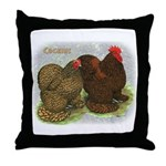 Cochins Golden Laced Throw Pillow