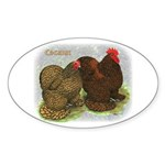 Cochins Golden Laced Oval Sticker (50 pk)