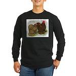 Cochins Golden Laced Long Sleeve Dark T-Shirt