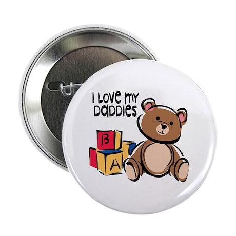 """#1 I Love My Daddies 2.25"""" Button (10 pack)"""