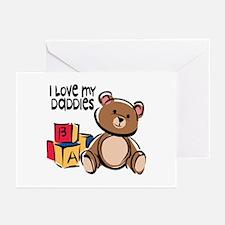 #1 I Love My Daddies Greeting Cards (Pk of 10)