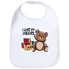 #1 I Love My Daddies Bib