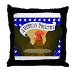 American Poultry Throw Pillow