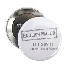 "English Major 2.25"" Button"
