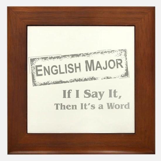 English Major Framed Tile