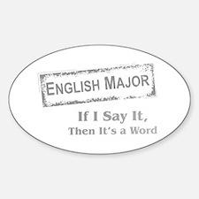 English Major Decal