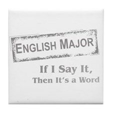 English Major Tile Coaster
