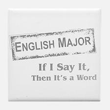 English Major Tile Coaster