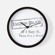 English Major Wall Clock