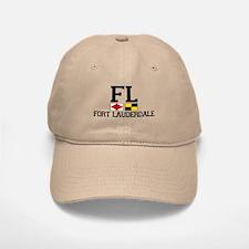 Fort Lauderdale FL - Nautical Flags Design Baseball Baseball Cap