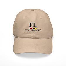 Fort Lauderdale FL - Nautical Flags Design Baseball Cap