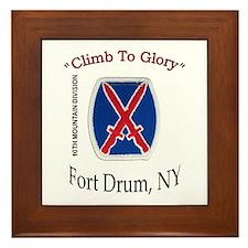 "10th Mountain Div ""Climb To G Framed Tile"
