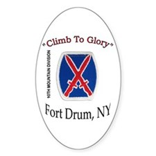 "10th Mountain Div ""Climb To G Oval Decal"