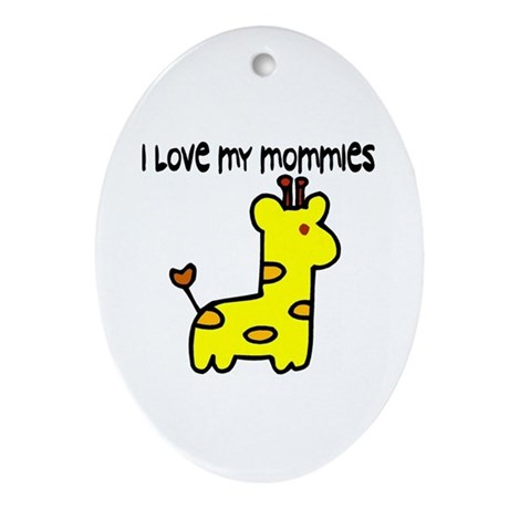 #5 I Love My Mommies Oval Ornament