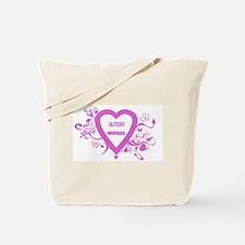 Pink Autism Awareness Tote Bag