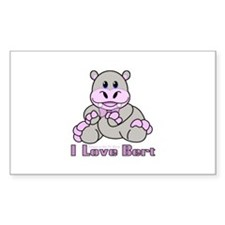 Bert the Hippo Rectangle Decal