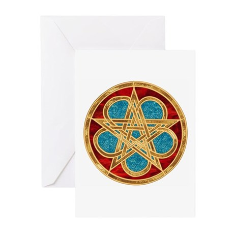 Celtic Pentacle Greeting Cards (Pk of 10)