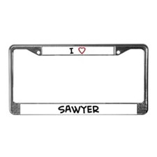 I Love SAWYER License Plate Frame