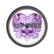 New Moon Violet Edwardian Lions Crest Wall Clock