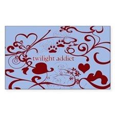 Twilight Addict Rectangle Decal