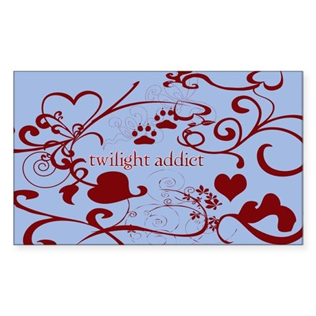 Twilight Addict Rectangle Sticker
