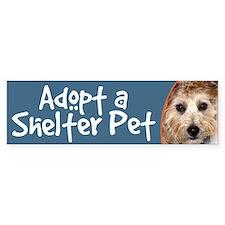 Adopt a Shelter Pet bumper sticker dog