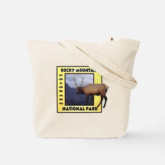 Estes Park Colorado Elk Tote Bag
