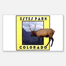 Estes Park Colorado Elk Rectangle Decal