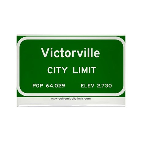Victorville Rectangle Magnet